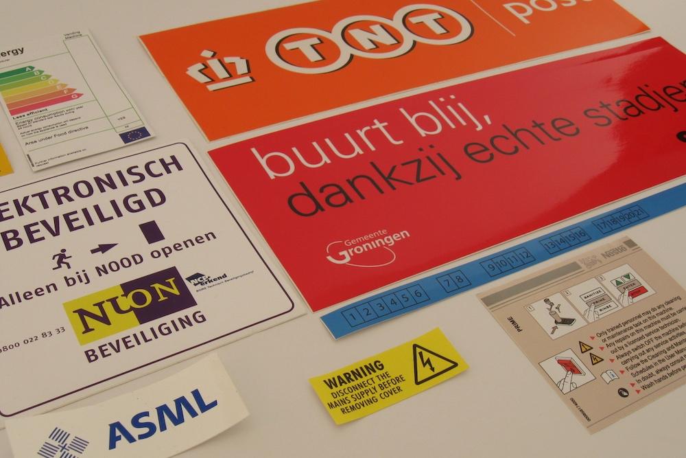 Weerbestendige Stickers